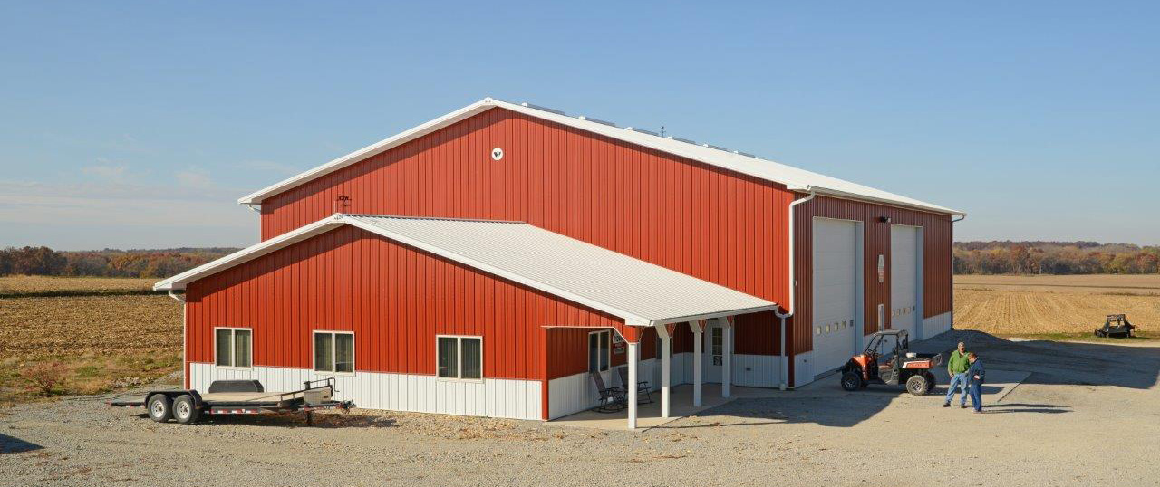 ag storage shop and office near rural sumner iowa - House Building Sites